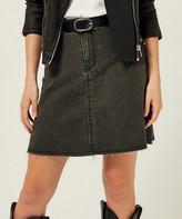 Milan Kiss Women's Denim Skirts GREY - Gray Snake Denim Skirt - Women