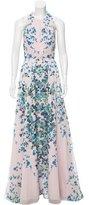 Lela Rose Halter Floral Gown