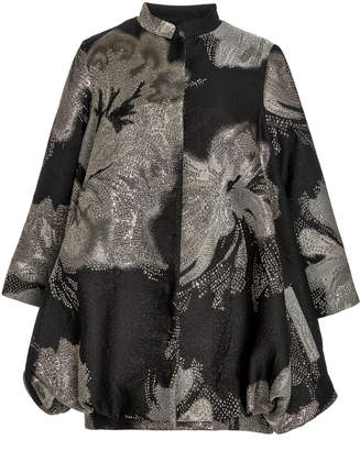 Libertine Night Flower Metallic Jacquard Cocoon Coat