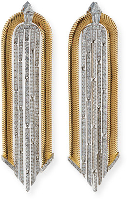 Nikos Koulis 18k Two-Tone Feelings Diamond Drop Earrings