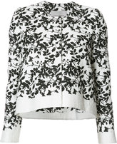 Carolina Herrera floral pattern cropped jacket - women - Cotton/Polyester/Acetate/viscose - 12