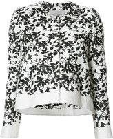 Carolina Herrera floral pattern cropped jacket - women - Cotton/Polyester/Acetate/viscose - 2