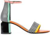 Pierre Hardy block heel gingham sandals