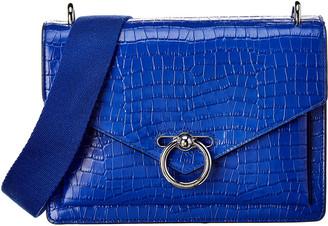 Rebecca Minkoff Jean Medium Croc-Embossed Leather Saddle Bag