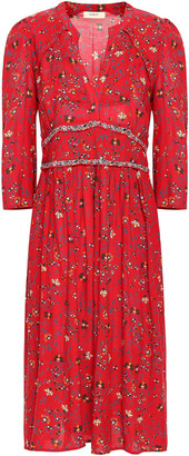 BA&SH Festina Floral-print Woven Midi Dress