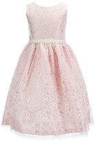 Jayne Copeland Big Girls 7-12 Sleeveless Lace-Overlay Gown