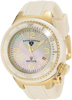 Swiss Legend Women's SL-11844-BGWGA Neptune Beige Mother of Pearl Silicone Watch