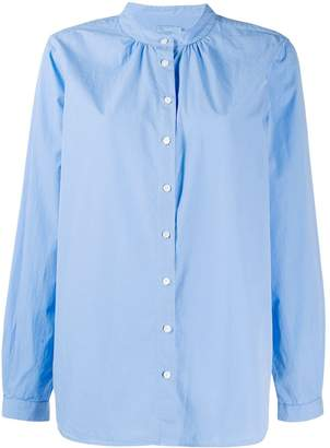 Closed band collar button shirt