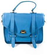 GiGi New York Blue Hayden Satchel Handbag $595 90027604