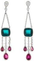 Kwiat Platinum Tourmaline & Diamond Swing Earrings