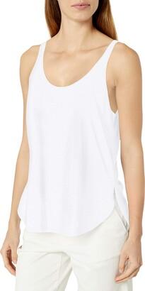 Clementine Apparel Women's Ladies Flowy Side Slit Fashion Tank Top