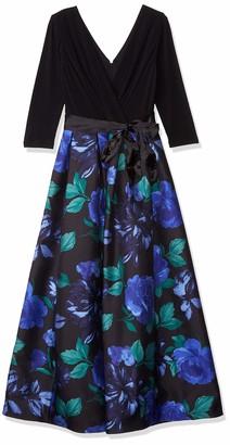 Chetta B Women's Long Sleeve V Neck Maxi Dress