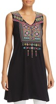 Johnny Was Dita Long Embroidered Tank