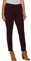 As Is H by Halston Ponte Knit Pull-On Slim Ankle Pants