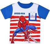 Spiderman Toddler Little Boys Web Pocket Contrast Sleeve Shirt