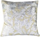Bed Bath & Beyond Lurex Floral Embroidered Square Throw Pillow in Silver