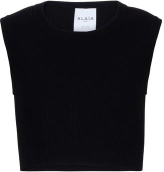Alaia Edition 2013 pique jersey top