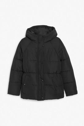 Monki Hooded puffer jacket