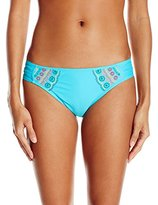 Hobie Women's A Stitch In Time Sash Side Hipster Bikini Bottom