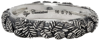 Ugo Cacciatori Silver Tiny Leaves Ring