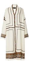Isabel Marant Ecru Embroidered Bering Coat