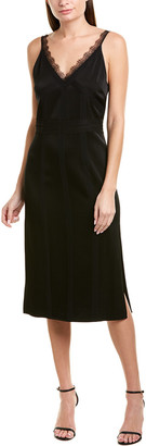 Jason Wu Lace- And Silk-Trim Sheath Dress