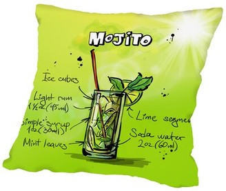 "Mojito Americanflat Throw Pillow Americanflat Size: 14"" H x 14"" W x 2"" D"
