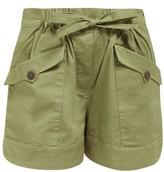 Sea Tula Drawstring-waist Cotton-blend Shorts - Womens - Khaki