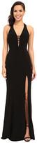 Faviana V-Neck Chiffon Dress 7540