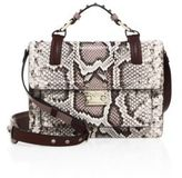 Valentino Small Lock Python Top-Handle Shoulder Bag