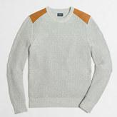 J.Crew Factory Tall shoulder-patch cotton crewneck sweater