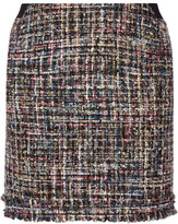 Karl Lagerfeld Metallic Bouclé-Tweed Mini Skirt