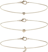Accessorize 3x Star & Moon Chain Choker Necklace Pack