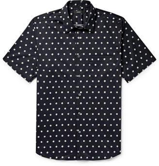 Theory Virsko Polka-Dot Cotton-Blend Poplin Shirt