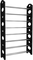 Sorbus Black 8 Shelf Stackable Shoe Rack Organizer Storage