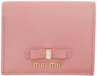 Miu Miu Pink Madras Foldover Wallet