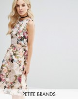 Miss Selfridge Petite Floral Jaquard Sleeveless Top