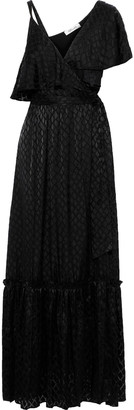 Diane von Furstenberg Ella Layered Fil Coupe Chiffon Maxi Wrap Dress