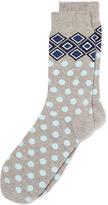 Topman Teal Diamond Pattern Socks