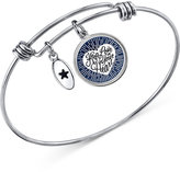 Unwritten Silver-Tone Keep Love Adjustable Bangle Bracelet