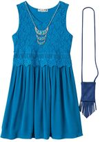 Knitworks Girls Plus Size Lace Crochet Dress