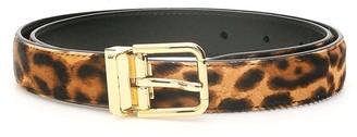 Dolce & Gabbana Leopard Print Pony Belt