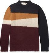 Marni - Colour-block Mohair-blend Sweater