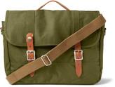 J.crew - Harwick Leather-trimmed Canvas Messenger Bag