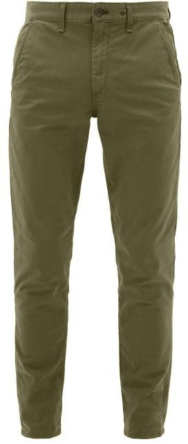 Rag & Bone Slim Fit Cotton Blend Chino Trousers - Mens - Khaki