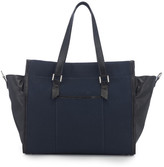 AUGUST Handbags - The Giant Hakone - Navy Canvas And Black Lizard