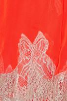 Meadham Kirchhoff Lace-appliquéd chiffon mini dress