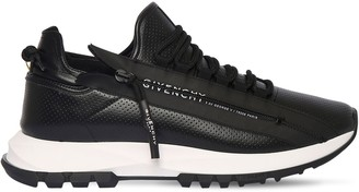 Givenchy Spectre Runner Leather Zip Sneakers