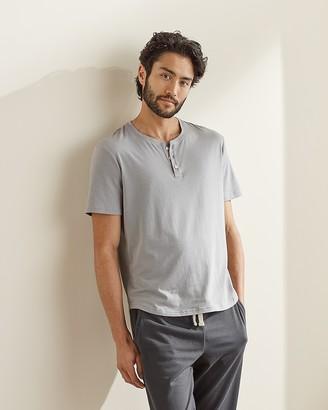 Express Upwest Short Sleeved Henley T-Shirt
