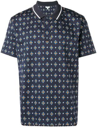 Kenzo geometric print polo shirt